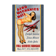 Aero Mechanics Mate Metal Sign Pasttime Signs
