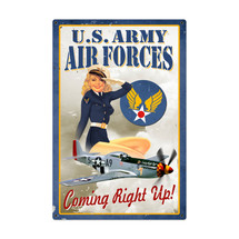 Air Force Pinup Metal Sign Pasttime Signs