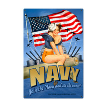 Navy Pinup Metal Sign Pasttime Signs