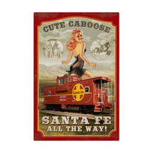 Sante Fe Caboose Metal Sign Pasttime Signs