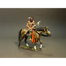 Mounted Indian Tracking (A), single mounted figure