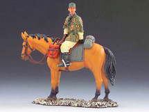 Waffen-SS Cavalry Trooper Scanning Horizon on Horse