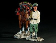 Waffen-SS Cavalry Officer Dismounted with Horse