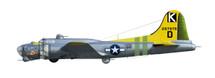 """B-17G Flying Fortress - """"Bit O' Lace,"""" 447th BG, 8th AF, 1945"""