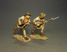 ANZAC's Charging (white shirts), Battle of Gallipoli, 1915--two figures