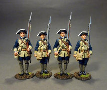 Four Line Infantry At Attention