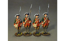 Four Line Infantry At Attention (four figures)