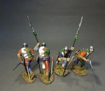 Four Lancastrian Billmen, The Retinue of Henry Tudor