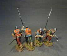 Four Lancastrian Billmen, The Retinue of John de Vere