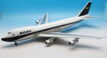 BOAC Boeing 747-100 Reg# G-AWNB Polished w/ Stand