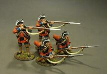 4 Line Infantry Skirmishing, 60th (ROYAL AMERICAN), REGIMENT OF FOOT (4 pcs)