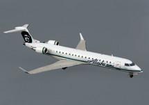 Alaska Airlines CRJ-700 Gemini Diecast Display Model