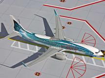 Alaska Airlines B737-800 Gemini Diecast Display Model