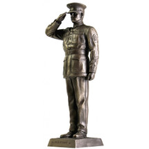 "MARINE DRESS BLUES SALUTE 12"" COLD CAST BRONZE  STATUE"