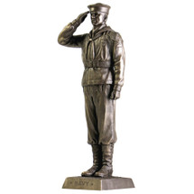 "US NAVY SALUTE 12"" COLD CAST BRONZE STATUE"