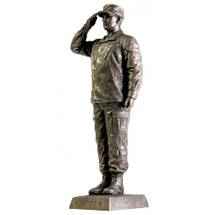 "US ARMY SALUTE 12‰"" COLD CAST BRONZE  STATUE"
