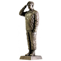 "ARMY SPECIALIST SALUTE 12‰"" COLD CAST BRONZE STATUE"