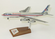 American Airlines Boeing 720-023B N7543A polished with stand
