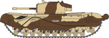 Churchill Tank MKIII Kingforce - Major King