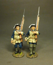 Two Line Infantry Marching, The South Carolina Provincial Regiment (The Buffs)