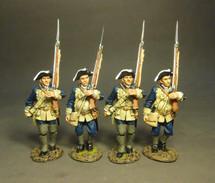 Four Line Infantry Marching, Set #1, The South Carolina Provincial Regiment 4 figures