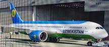 Uzbekistan B787-8 UK78701 w/Stand