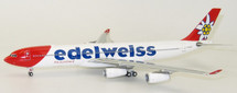 Edelweiss Air A340-300 HB-JMG With Stand