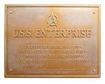 U.S.S Enterprise NCC-1701-A Dedication Plaque