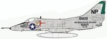 """A-4C Skyhawk """"MIG-17 Killer"""", VA-76, USS Bon Homme Richard, 1967"""