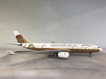 """Gulf Air A330-200 A40-KF """"50th Anniversary"""" With Stand"""