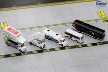 Ground Equipment #1 (Emirates w/ busses) Gemini Diecast Display Model