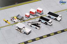 Ground Equipment #2 (Emirates w/ tugs) Gemini Diecast Display Model