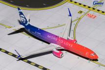 Alaska Airlines 737-900ER, More to Love Gemini Diecast Display Model