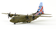 UK Air Force Lockheed Martin C-130J Hercules C5 (L-382) H883 With Stand