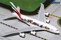 Emirates A380-800 Wildlife #3, New Logo A6-EEQ Gemini Diecast Display Model