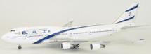 El Al Israel Airlines Boeing 747-400 4X-ELA 100 year w/ Stand