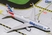 American B767-300W (OneWorld Livery) N343AN Gemini Diecast Display Model