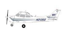 Skyhawk Sportys Flight School #4 172, N2135S Gemini Diecast Display Model