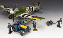 Typhoon Airfield Scene Special Set - Includes Hawker, Airfield Tractor and Figures