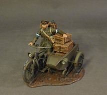Despatch Rider w/ Sidecar, Royal Engineers Signal Service (RESS), The Great War, 1914-1918
