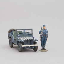 Bantam Jeep (RAF blue with Bantam Jeep in RAF blue with distinctive black and white chequer board pattern)