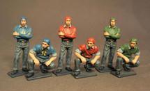 Flight Deck Crew, Aircraft Carrier Flight Deck Crew, The Second World War, six figures