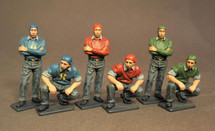 Flight Deck Crew, Aircraft Carrier Flight Deck Crew, The Second World War, six figures