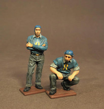Two Plane Handlers, USS Saratoga (CV-3), Inter-War Aviation, two figures