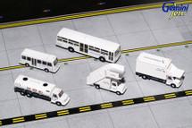 American Airlines Ground Equipment Set for 1:200 scale, Trucks Gemini Diecast Accessories