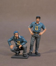 Two Plane Handlers #2, Aircraft Carrier Flight Deck Crew, The Second World War, two figures