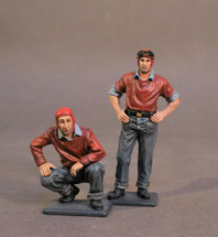 Two Ordnancemen #2, Aircraft Carrier Flight Deck Crew, WWII, two figures