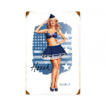Air Force Girl Metal Sign Pasttime Signs