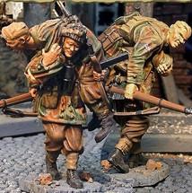 Red Devil Wounded Team, Two Figures, British 1st Airborne Division, Battle of Arnhem Series