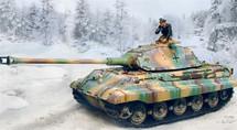 German Sd. Kfz. 182 PzKpfw VI King Tiger Ausf. A Heavy Tank Winter Camouflage